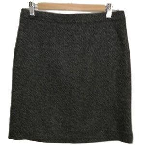 LOFT Herringbone Classic Black Mini Skirt, size 2
